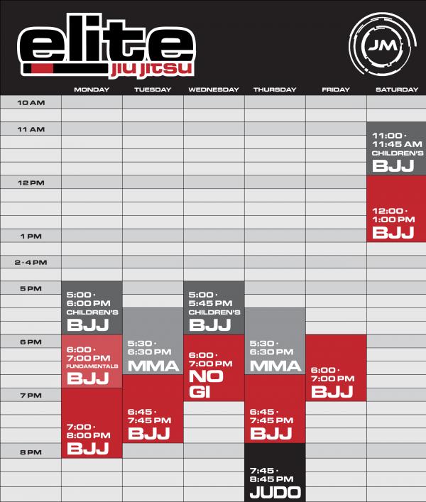 elite-class-schedule